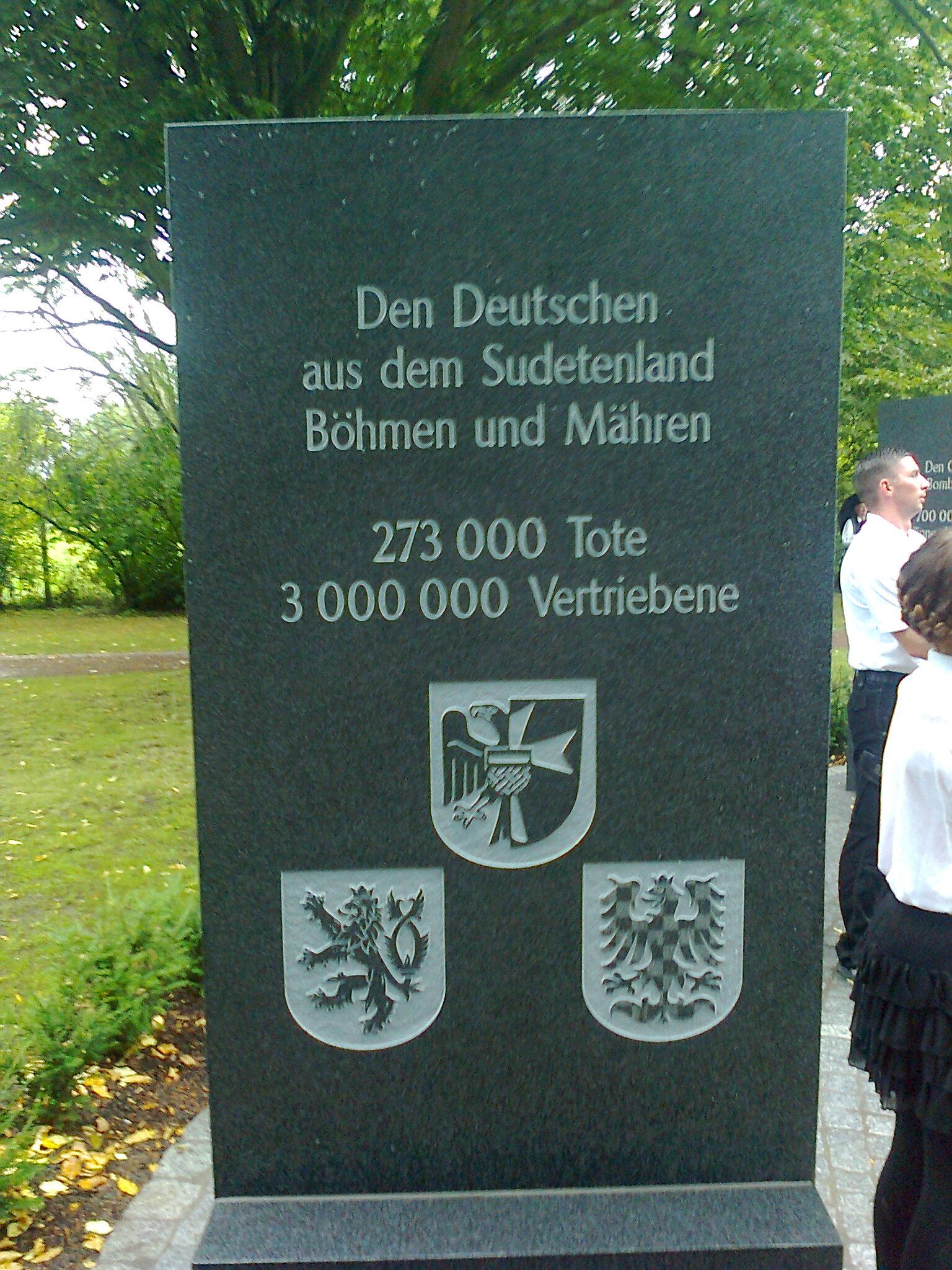 Stein für die Sudetendeutschen